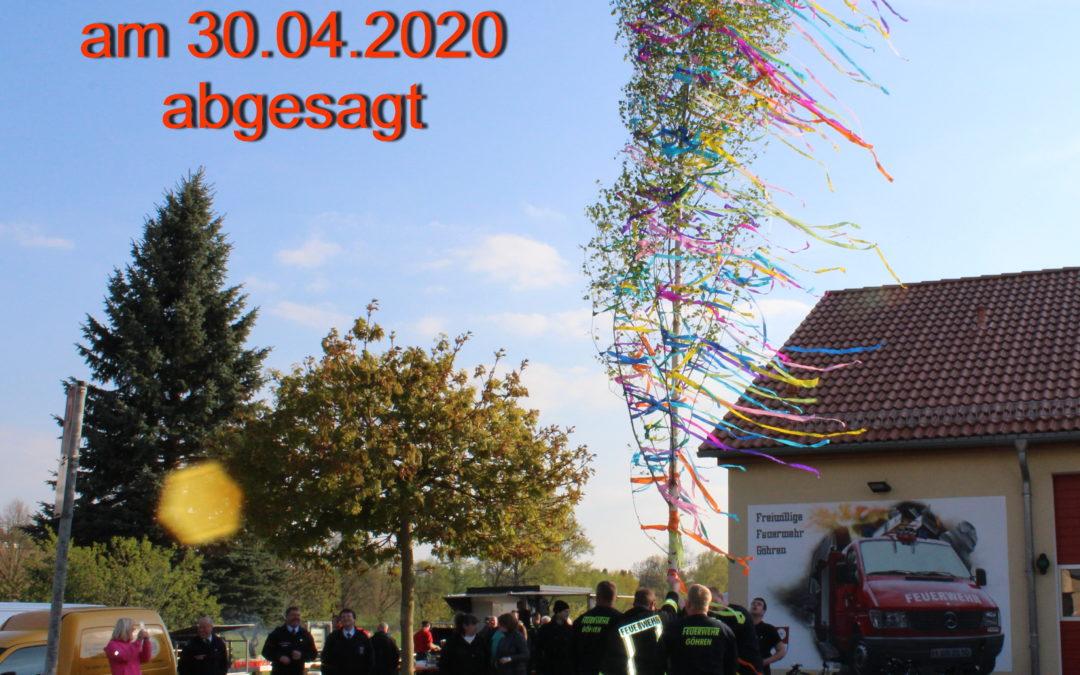 Maibaumsetzen 2020 – abgesagt