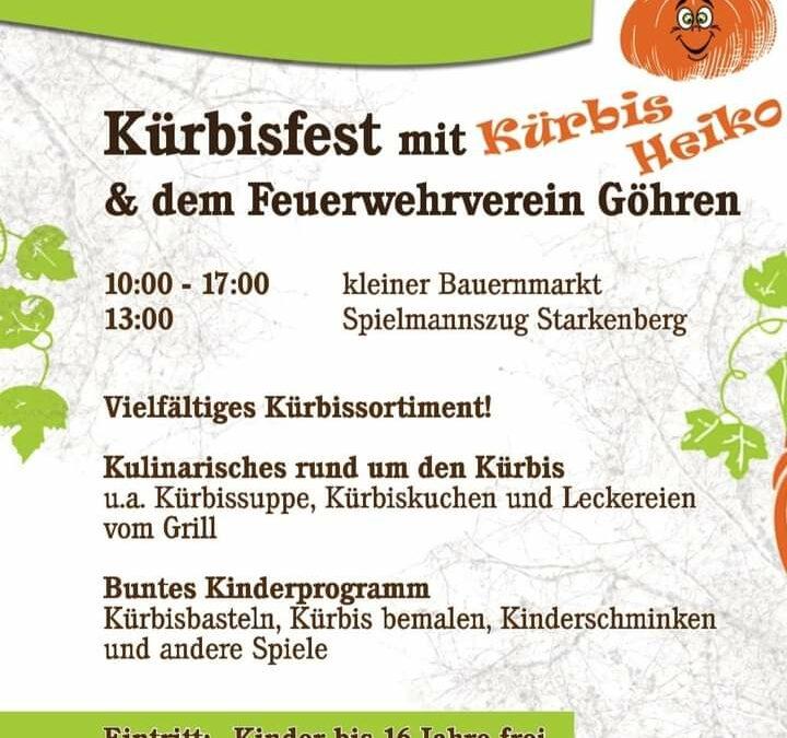 Kürbisfest am 03.10.2021